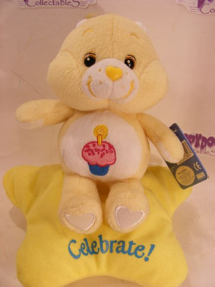 "BNWT 8"" BIRTHDAY CAREBEAR CARE BEARS - IDEAL GIFT"